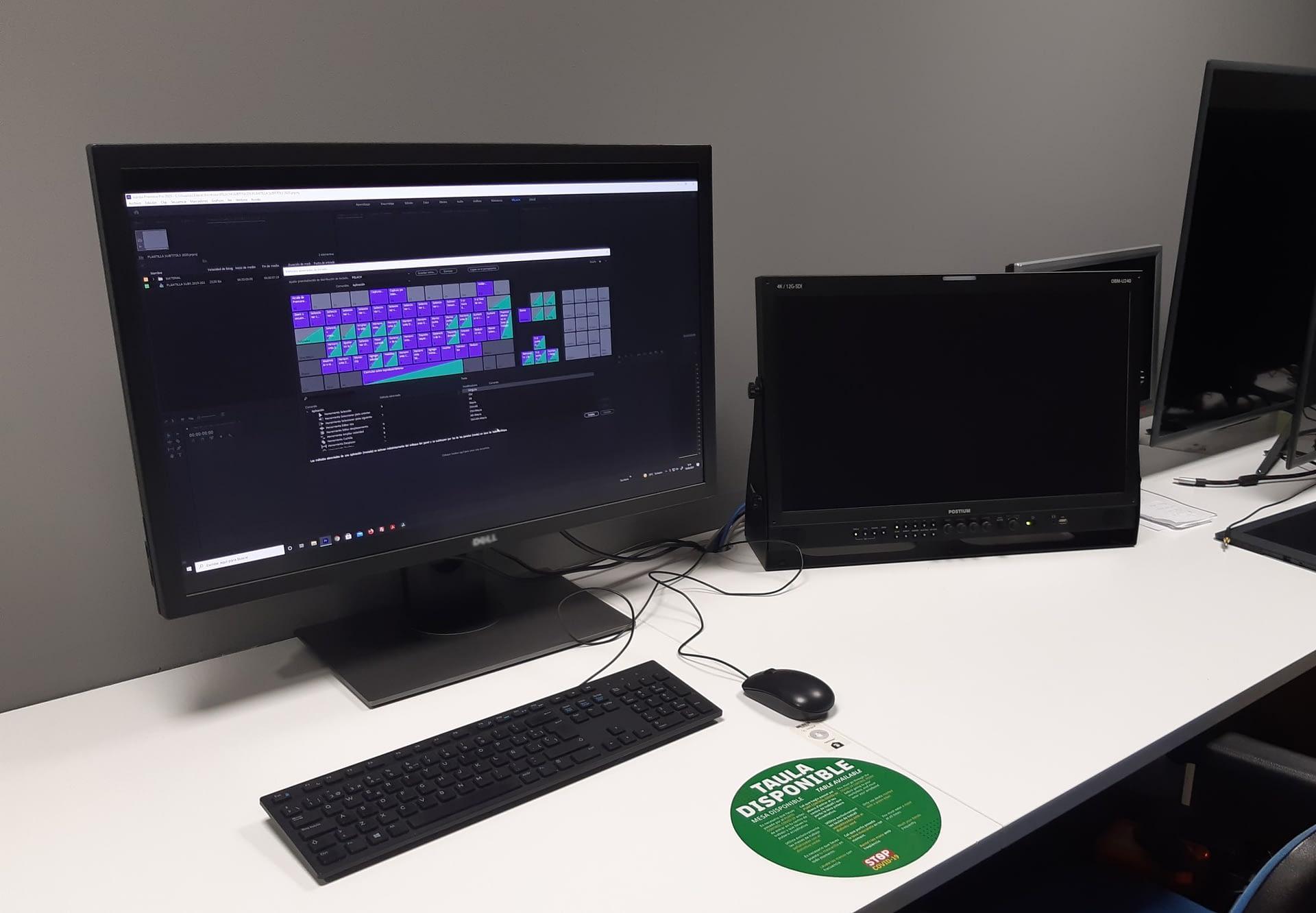 Sala de monitoreo en Barça Studios con ordenadores